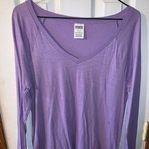 Victoria secret small purple long sleeve v neck